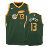Divise Basket Personalizzate NBA Bambino Earned Edition Utah Jazz NO.13 Tony Bradley Verde 2018-19