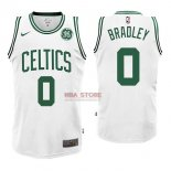 Divise Basket Personalizzate NBA Boston Celtics NO.0 Avery Bradley Bianco 2017/2018