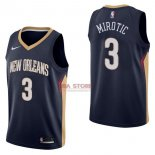 Divise Basket Personalizzate NBA New Orleans Pelicans NO.3 Nikola Mirotic Marino Icon 2017/2018