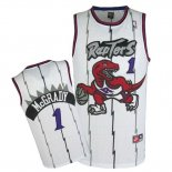 Divise Basket Personalizzate NBA Toronto Raptors NO.1 Tracy McGrady Retro Blu