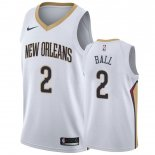 Divise Basket Personalizzate NBA New Orleans Pelicans NO.2 Lonzo Ball Blanc Association 2019-20