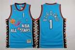 Divise Basket Personalizzate NBA 1996 All Star NO.1 Anfernee Hardaway Blu