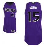 Divise Basket Personalizzate NBA Sacramento Kings NO.15 DeMarcus Cousins Purpura