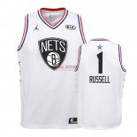 Divise Basket Personalizzate NBA Bambino 2019 All Star NO.1 DAngelo Russell Bianco