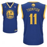 Divise Basket Personalizzate NBA Golden State Warriors NO.11 Klay Thompson Blu
