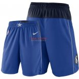 Scontate Pantaloncini NBA Dallas Mavericks Nike Blu