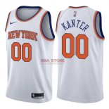 Divise Basket Personalizzate NBA New York Knicks NO.0 Enes Kanter Bianco Association 2017/2018