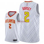 Divise Basket Personalizzate NBA Atlanta Hawks NO.2 Tyler Dorsey Bianco Association 2018