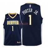 Divise Basket Personalizzate NBA Bambino Denver Nuggets NO.1 Michael Porter Jr Marino Icon 2018