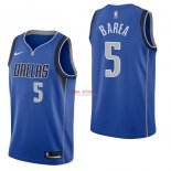 Divise Basket Personalizzate NBA Dallas Mavericks NO.5 J.J. Barea Blu Icon 2017/2018