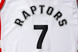 Divise Basket Personalizzate NBA Toronto Raptors NO.7 Kyle Lowry Bianco