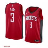Divise Basket Personalizzate NBA Houston Rockets NO.3 Chris Paul Rosso Icon 2019-20