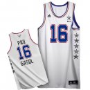 Divise Basket Personalizzate NBA 2015 All Star NO.16 Pau Gasol Bianco