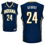 Divise Basket Personalizzate NBA Indiana Pacers NO.24 Paul George Blu