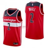 Divise Basket Personalizzate NBA Washington Wizards NO.2 John Wall Rosso Icon 2017/2018