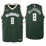 Divise Basket Personalizzate NBA Bambino Milwaukee Bucks NO.8 Matthew Dellavedova Verde Icon 2018