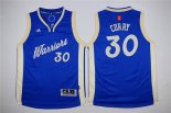Divise Basket Personalizzate NBA Bambino 2015 Natale Golden State Warriors NO.30 Stephen Curry Blu