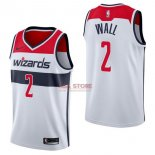 Divise Basket Personalizzate NBA Washington Wizards NO.2 John Wall Bianco Association 2017/2018