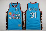 Divise Basket Personalizzate NBA 1996 All Star NO.31 Andre Miller Blu