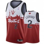 Divise Basket Personalizzate NBA Toronto Raptors NO.2 Kawhi Leonard Rouge Hometown Collection