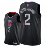 Divise Basket Personalizzate NBA L.A.Clippers NO.2 Shai Gilgeous Alexander Nero Statement 2018