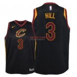 Divise Basket Personalizzate NBA Bambino Cleveland Cavaliers NO.3 George Hill Nero Statement 2018