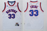 Divise Basket Personalizzate NBA New York Knicks NO.33 Patrick Ewing Bianco