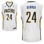 Divise Basket Personalizzate NBA Indiana Pacers NO.24 Paul George Bianco