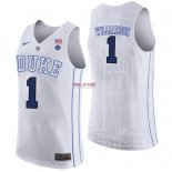 Divise Basket Personalizzate Duke NO.1 Zion Williamson Bianco