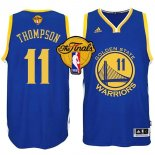 Divise Basket Personalizzate NBA Golden State Warriors Finale NO.11 Thompson Blu