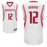 Divise Basket Personalizzate NBA Houston Rockets NO.12 Dwight Howard Bianco