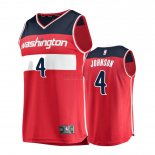 Divise Basket Personalizzate NBA Bambino Washington Wizards NO.4 Wesley Johnson Rosso Icon