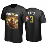 Scontate T-shirt Uomo NBA Golden State L.A.Lakers Anthony Davis Noir