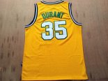 Divise Basket Personalizzate NBA Seattle Supersonics NO.35 Kevin Durant Retro Giallo