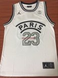 Divise Basket Personalizzate NBA Jordan x Paris Saint-Germain NO.23 Jordan Bianco
