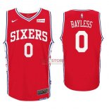 Divise Basket Personalizzate NBA Philadelphia Sixers NO.0 Jerryd Bayless Rosso 2017/2018