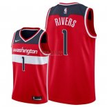 Divise Basket Personalizzate NBA Washington Wizards NO.1 Austin Rivers Rosso Icon 2018