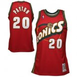 Divise Basket Personalizzate NBA Seattle Supersonics NO.20 Gary Payton Retro Rosso