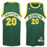 Divise Basket Personalizzate NBA Seattle Supersonics NO.20 Gary Payton Verde