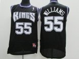 Divise Basket Personalizzate NBA Sacramento Kings NO.55 Jason Williams Nero