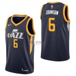Divise Basket Personalizzate NBA Utah Jazz NO.6 Joe Johnson Marino Icon 2017/2018