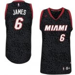 Divise Basket Personalizzate NBA Miami Heat Luce Leopard NO.6 James Nero