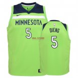 Divise Basket Personalizzate NBA Bambino Minnesota Timberwolves NO.5 Gorgui Dieng Verde Statement 2018
