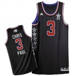 Divise Basket Personalizzate NBA 2015 All Star NO.3 Chris Paul Nero