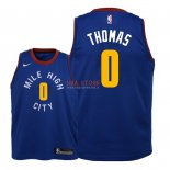 Divise Basket Personalizzate NBA Bambino Denver Nuggets NO.0 Isaiah Thomas Blu Statement 2018/2019
