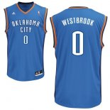 Divise Basket Personalizzate NBA Oklahoma City Thunder NO.0 Russell Westbrook Blu