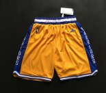 Scontate Pantaloncini NBA Golden State Warriors Retro Giallo