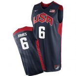 Divise Basket Personalizzate NBA 2012 USA James NO.6 Nero