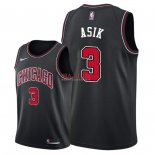 Divise Basket Personalizzate NBA Chicago Bulls NO.3 Omer Asik Nero Statement 2018