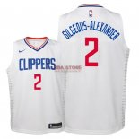 Divise Basket Personalizzate NBA Bambino L.A.Clippers NO.2 Shai Gilgeous Alexander Bianco Association 2018